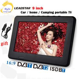 taux tvs Promotion LEADSTAR D9 LED TV Lecteur de télévision numérique portable 9 pouces DVBT2 DVBT Analogique tout en un Mini tv affichage led Support programme de support led voiture