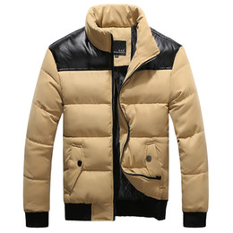 parkas for winter Coupons - Wholesale- New Men's cotton-padded Down coat men fashion casual stand collar Winter coat male Down & Parkas for men down coats G0368
