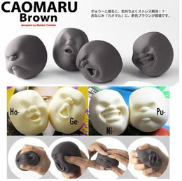 Wholesale Rubber Face Doll - 2017Fashionable Human Funny Face Emotion Vent Ball Resin Relax Doll Adult Stress Relieve Novelty Fun Antistress Ball Gift Toys Comfortable