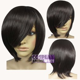 Wholesale long layers wig - 40cm Chestnut Brown Heat Styleable Long Bang Layer Base Cosplay Wig 65_04A