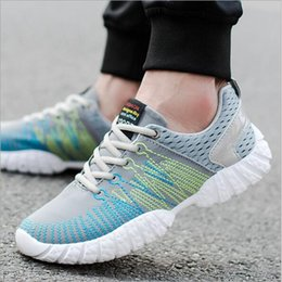 Wholesale Korean Style Running Shoes - Men Fashion Sneakers Casual Sports Athletic Running Shoes All-Match New Mesh Breathable Running Korean Style Casual Shoes 2017
