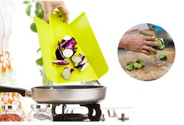 Wholesale Wholesale Kitchen Cutting Boards - PP Foldable Chopping Block Fruit Meat Vegetable Kitchen Rectangle Plastic Cutting Boards Practical Cooking Tools wa4059