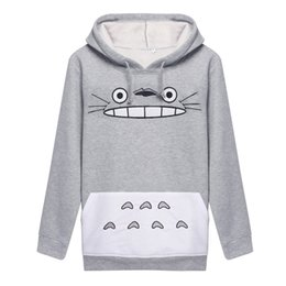 Wholesale Thick Hoodies Wholesale - Wholesale-New Unisex Sweatshirt Cartoon Totoro Hoodies Animal Loose Pullover Cosplay Costumes For Men Women Ropa Mujer 22