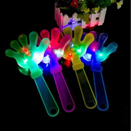 Wholesale Clap Lights - 2017 New Clap Your Hands LED Flashing Musical Toy Maraca Light Up Shake Toy Bar KTV Cheering Props Halloween Glow Party Supplies