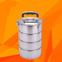 Wholesale Stainless Steel Lunch Box Portable Bento Picnic Storage Mess Tin Food Jar Multilayer For Students Outdoor Camping Hot Sell js JR