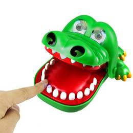 Wholesale Old Bit - Wholesale-Big Crocodile Mouth Dentist Bite Finger Game Toy Family Game For Children Kids Xmas Gift