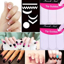 Wholesale Browning Nail Stickers - Wholesale-2 Pack Striping Line French Manicure Form Nail Art Tape Sticker DIY Stencil 9.8G0.6Y