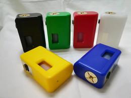 2019 mods de caja no regulados El más nuevo ABS Squonk Box Mod Alimentación inferior no regulada Ecig Vape BF Box Mods con silicona Squonk Bottle DHL mods de caja no regulados baratos