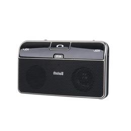 Wholesale Handsfree Accessories - Wholesale- 2017 Universal Car Charger Phone Speaker Bluetooth4.0 Car Music Receiver Speaker Adapter 3.5mm SunVisor Handsfree Accessories