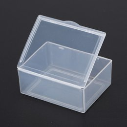 Wholesale Jewelry Clear Plastic Containers - (Internal size 5.3*4*1.9CM) Jewelry Clear Storage Case Box Craft Makeup Cosmetic Accessory Beads Candy Organizer Organizador Container