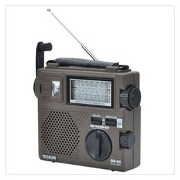 Wholesale Crank Radios - Wholesale-100% original TECSUN GR-88 radio hand crank FM MW SW Full-Wave Band Radio Receiver Portable Recharge Radio Free Shipping