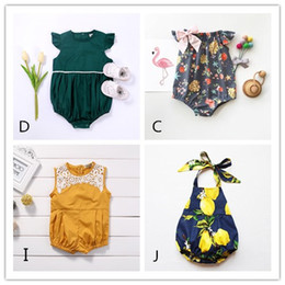 Wholesale Pajamas Sale - 4 Style BABY Girl Romper Next Kid Boutique Clothes Toddler Leotard Newborn Ruffle Infant Onesies Suit Bodysuit Pajamas Rompers Hot Sale 0-2Y