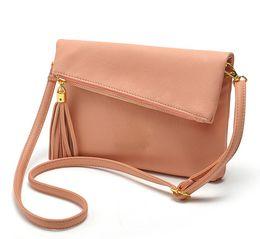 Wholesale Leather Body Sling - good Design Small Fold Over Bag Mini Women Messenger bags Leather Crossbody Sling Shoulder bags Handbags Purses Zipper