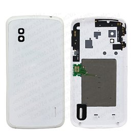 Wholesale New Nexus Cover - 50PCS New Back Cover Housing Battery Cover with NFC Replacement Parts for LG Nexus 4 E960 free DHL