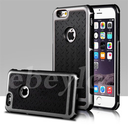 Wholesale Iphone Rubber Gel Covers - Ultra Thin Shockproof Rubber PC Gel TPU Hybrid Case Cover For Apple iPhone 5S SE 6 6S 6 Plus Luxury Armor Cases Shell