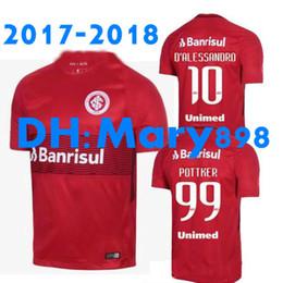 Wholesale N Shirts - Top Thai quality 2017 Internacional soccer Jerseys CUESTA Brazil league club N. LOPEZ D.ALESSANDRO POTTKER 17 18 football shirt