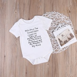 Wholesale Baby Body Suits Rompers - Newborn Infant Baby toddlers Romper baby body suit shirt Jumpsuit Ropa Bebes Bodysuits Outfit Clothes New rompers Short Sleeve Pajamas