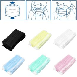 Wholesale Wholesale Disposable Mask - High Quality 3 Layer Non-woven Fabric Mouth Face Masks Disposable Respirator Health Anti Dust Mask Dental Disposable Medical Dust