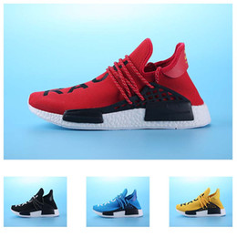 Wholesale Race Gifts - 2017 Hot cheap Wine-red Human race Running Shoes NMD HUMANRACE Couple Top Gift Shoes NMD shoes size 36-44 high quality free shipping