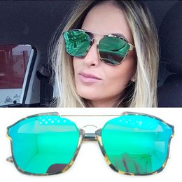 Wholesale Women Pads Brands - Hot Sale New 2017 Top Quality Women Sunglasses Abstract Brand Sunglasses Prevent Allergies Metal Nose Pad Fashion Oculos Retro Sunglasses