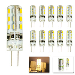 Wholesale G4 6w Led - Hot Sales SMD3014 G4 3W 4W 5W 6W LED Corn Crystal lamp light DC12V  AC 110V 220V LED Bulb Chandelier 24LED 32LED 48LED 64LEDs Crystal lamp
