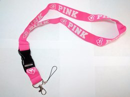 Wholesale Wholesale Personalized Keychains - Hot lovepink phone LANYARD KEYCHAIN LANYARD Vitoria secret personalized custom 100cm