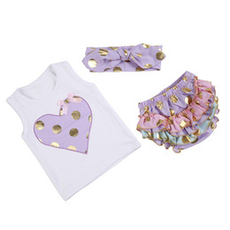 Wholesale Boutique Sets - hot selling Childrens Boutique Clothing Baby Toddler Bloomer And Shirt, Toddler Clothes 3 Pieces Set Summer Yiwu Market With Factory Price