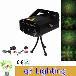 Wholesale Mini Laser Dmx - Wholesale- Mini Laser Projector DMX LED Stage Lighting Professional DJ Equipment Strobe Dance Disco Light Home Party Show Lights
