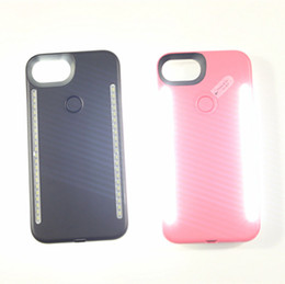 Wholesale Double Side Phone Case - LED Light phone Cases Phone Double Sides Light Battery Case For iphone 7 6 6s plus Note 7 With Retail Package