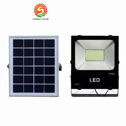Wholesale Solar Power Flood Lights - Outdoor Solar LED Flood Lights 100W 50W 30W 70-85LM Lamps Waterproof IP65 Lighting Floodlight Battery Panel Power Remote Contorller China