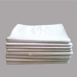 Disegno donna di stampa online-Moda nuovi fazzoletti bianchi puri fazzoletti 100% cotone donna uomo 41 cm * 41 cm tasca quadrata nozze pianura stampa fai da te disegnare Hankie