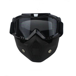 Wholesale Visor Motorcycle - Wholesale- Cycling Motorcycle Helmet Ski Mask Cover Anti-Fog Cold pollution Cross-Country Goggle Eyewear Protector Visor Winter