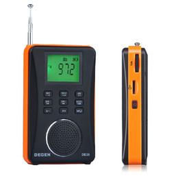 Wholesale Degen Dsp Radio - Wholesale-Degen DE26 Digital Radio MP3 Player Dynamic Fashion Stereo MW.SW DSP Digital Receiver FM USB radio MP3 Player Support TF Card