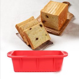 Wholesale Mold Cup - Non-Stick Square Silicone Mold Cake Pan Baking Tools For Cakes Heat Resistant Bread Toast Mold Dandys