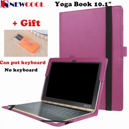 Wholesale Lenovo Yoga Keyboard Cover - Wholesale- Yoga Book Flip Cover For Lenovo Yoga Book 2016 10.1 Tablet Case Protective shell Can Put Keyboard + Screen Film