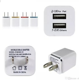 Wholesale Galaxy Nexus Phone - Dual USB 2.1A AC Power Adapter Wall Charger US Plug for mobile phone samsung galaxy note NEXUS tablet ipad