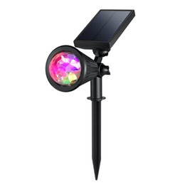 éclairage mural coloré Promotion Projecteur de Noël Projecteur solaire extérieur multi-coloré 4 LED ajustable éclairage de la flamme paysage Lumière murale solaire Jardin des lampes de pelouse