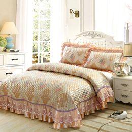 Wholesale Quilt Patchwork Set - Wholesale- 100% cotton Luxury bedding set patchwork quilt king size comforter set bedsheet bedspread