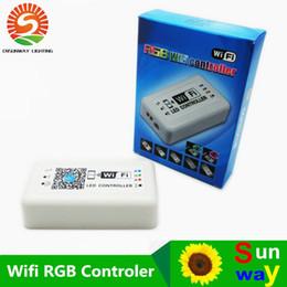 Wholesale Ipad Ios Controller - Led controller dc12-24v mini wifi led rgb controller for iphone ipad ios android wireless mobile phone control for rgb led strip