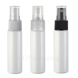 Wholesale Cap Spray - Wholesale- 100PCS LOT-30ML Spray Pump Bottle,Flat Shoulder,White Plastic Cosmetic Container,Empty Perfume Sub-bottling With Mist Atomizer