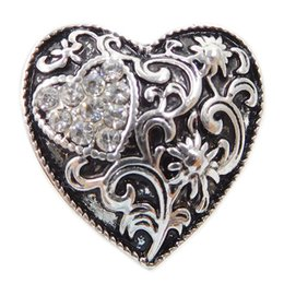Wholesale China Character Wholesaler - A08 wholesale noosa love lovers double heart shaped alloy snap button jewelry for noosa chunk bracelets Valentine's Day gifts