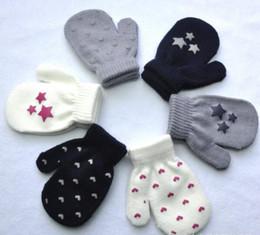 Wholesale Wholesale Knit Kids Gloves - 2017 Kids Gloves Knitting Warm Soft Gloves Boys Girls Mittens Unisex Kids Winte Gloves Children Wool Luvas Kids Accessories 6 Colors TOP1522