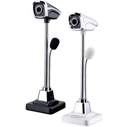 Wholesale Pc Webcams - New Design 360 Degree USB 2.0 HD CMOS Webcam Camera Metal Web Cam & MIC for Computer PC Laptop