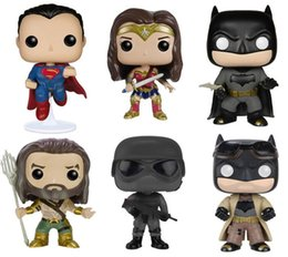 Wholesale Avengers Funko - Free shipping Hot 10cm Funko Pop Batman 84 Superman 85 Wonder Woman 86 Knightmare Batman 89 Figure Toy