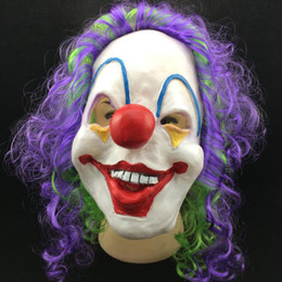Wholesale Kids Clown Mask - 2017 Jester Clown Halloween & Christmas Party Masks Party Funny Jolly Masks Adult Costume Accessory Party Cosplay Horror Masks for kids