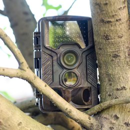 Wholesale Ir Game Cameras - H881 Hunting Trail Camera 1080P HD Wide Angle Infrared Waterproof Wildlife Trap Game Camera 46pcs IR LED Scouting Hunting camera ann
