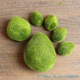 Wholesale- 1 confezione Artificiale Moss Foam Stone Green Plant Decorazione per la casa F340 da