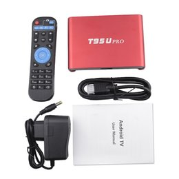 Wholesale Core Arms - T95U PRO Android 7.1 TV Box Amlogic S912 Octa core ARM Cortex-A53 3GB 32GB WiFi 2.4G 5.8G H.265 VP9 4K Player android ott tv box dhl