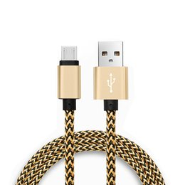 Wholesale Colorful Micro Usb - Mirco USB Cable Colorful Braided charging for Samsung Galaxy s8 plus s7 edge Type C lightning cables Data Sync for huawei android xiaomi