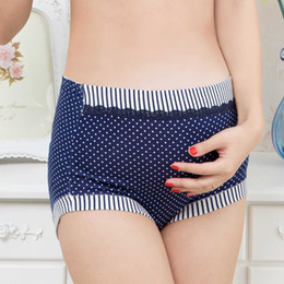 Wholesale High Waist Cotton Maternity Underwear - High Quality Breathable Pregnant Women's Maternity Panties Dots Print Briefs For Pregnancy Underwear Lingerie High waist underwear